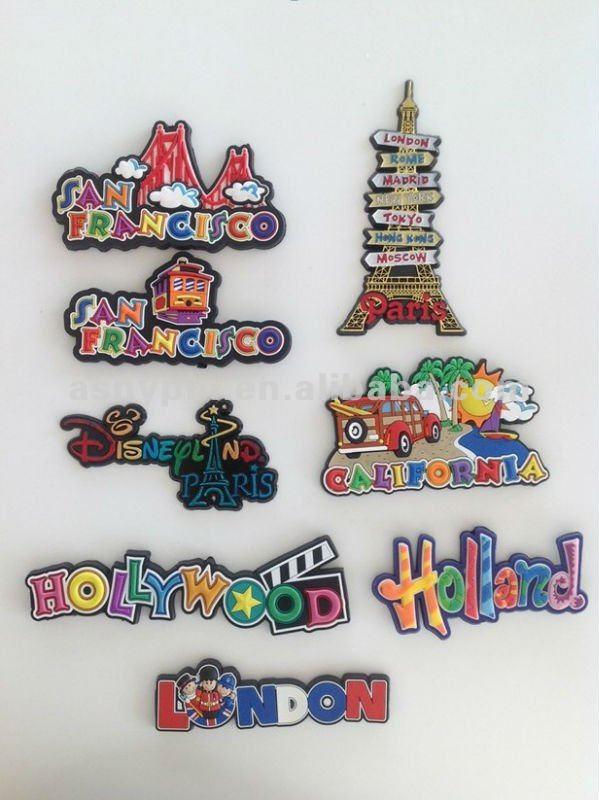 Usa Hollywood Souvenir Soft Pvc Fridge Magnet Rubber