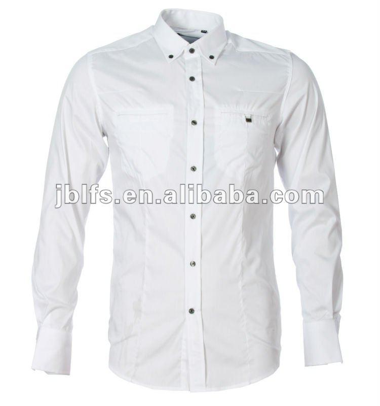 Custom Design Slim Fit Buttons Down Formal Shirt For Men - Buy ...