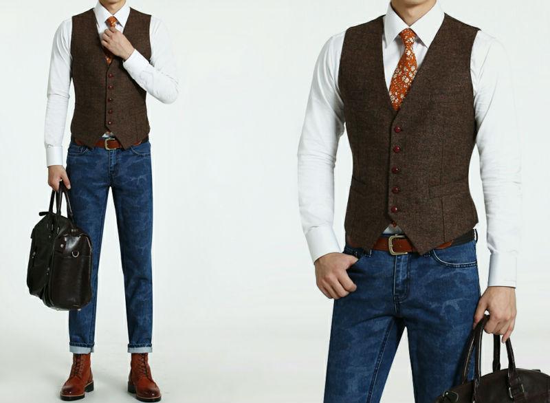 Dark Brown Mens Fashion Casual Vest - Buy Casual Vests For Men ...