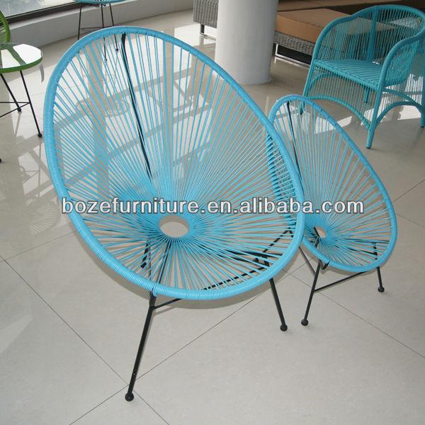 Metal pe acapulco rattan para ni os jard n silla silla for Modelos de sillas de hierro