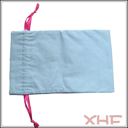 (XHF-DRAWSTRING-047) new design drawstring bag with canvas and satin