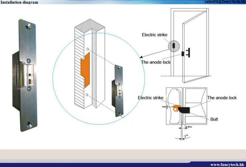 outward opening door locks electric strike door lock suppliers yiwu