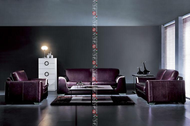 966 Futura Leather Sofa Quality / Bright Colored Leather Sofa Set / Leather  Sofas And Home