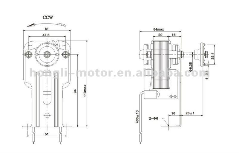 220v 3w refrigerator fan motor