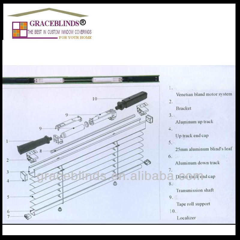 220v Somfy Tubular Motor Motorized Wooden Venetian Blinds
