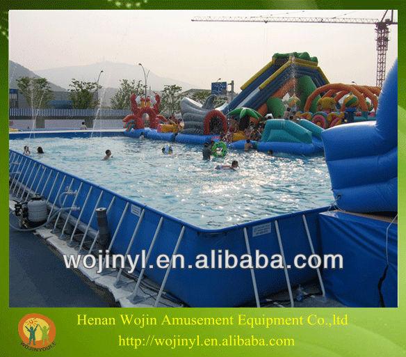 Grande taille en acier cadre piscine cadre en acier for Large swimming pools for sale