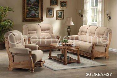 Wooden Sofa Set, Wooden Cushion Sofa Set