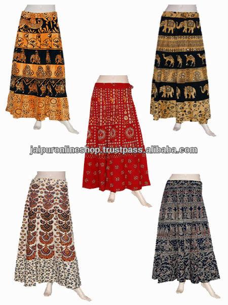 Women Wrap Around Maxi Long Bohemian Skirt - Buy Woman's Magic ...