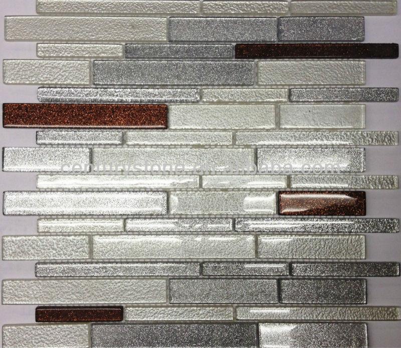 Mosaico Di Vetro Backsplash Piastrelle Iridescenti 13x13 Stanza da ...