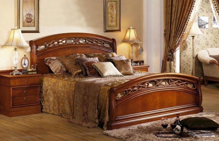 Luxury Clic Design Wooden Bed Of Bedroom Furniture Set
