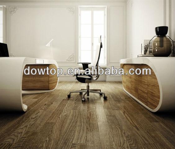 Modern Artificial Marble Stone White Google Desk Executive Office