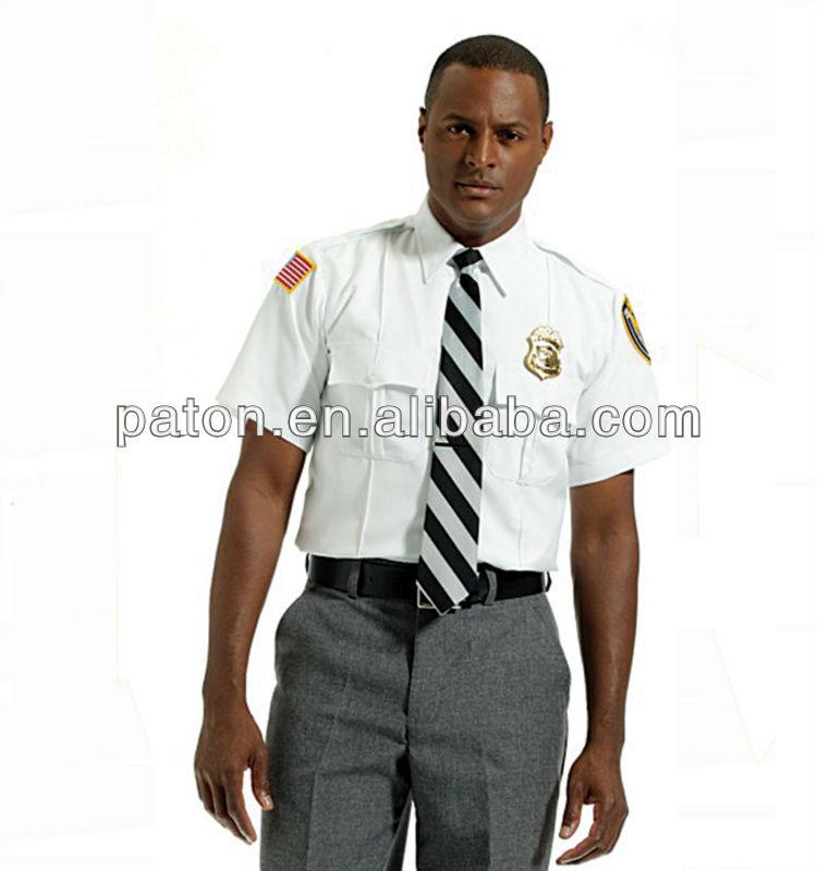 Custom Men Short Sleeve Security Guard Uniform Clothes For Summer ...