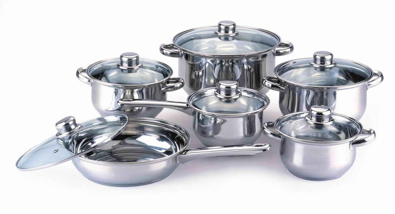 12pcs Stainless Steel Cookware Set(stock Pot,Casserole,Saucepot ...