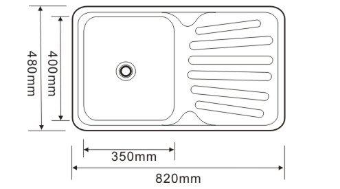 Utility Stainless Steel Kitchen Sink Drainboard Sink