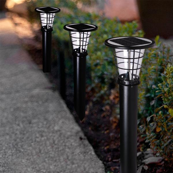 Nice Design Decking Outdoor Standing Solar Lamps For Garden ...