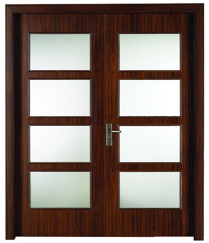 Fashion Glass Wooden Interior Bedroom Door