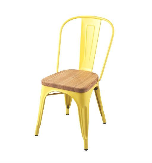 sf104 metal chair with wood seat - buy metal chairs,vintage