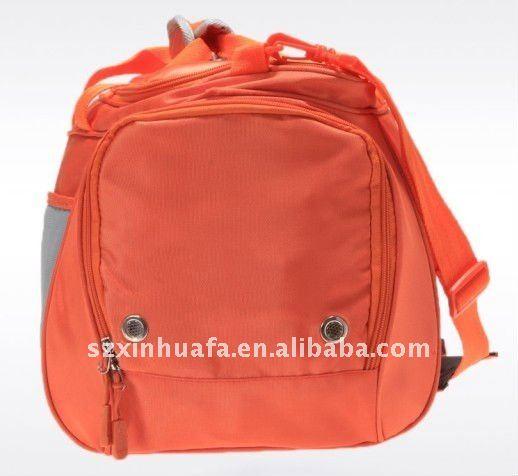 (XHF-TRAVEL-045) expandable travel bag nylon duffel bag orange duffel bags waterproof