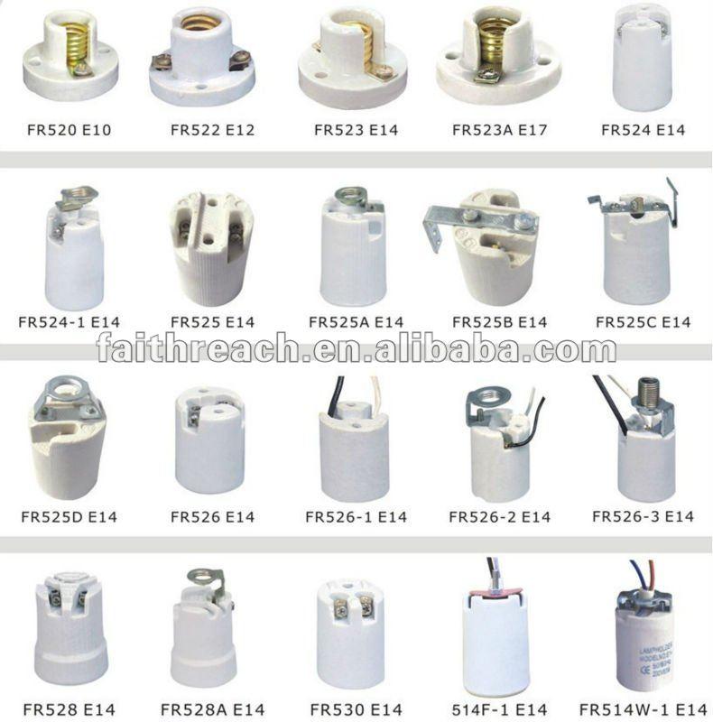 Ce Listed Electrical Gu10 Ceramic Halogen Lamp Socket ...