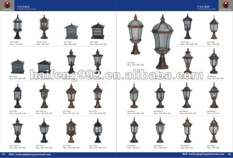 Outdoor Pillar Gate Lights