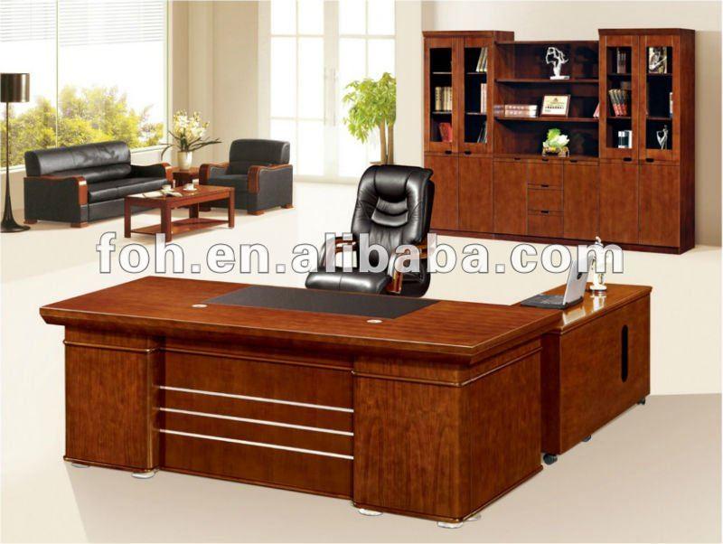 Wooden Executive DeskExecutive Office TableL Shaped Desk fohs