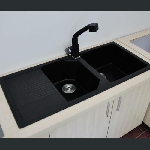 Eco-friendly cultured marble quartz composite kitchen sinks