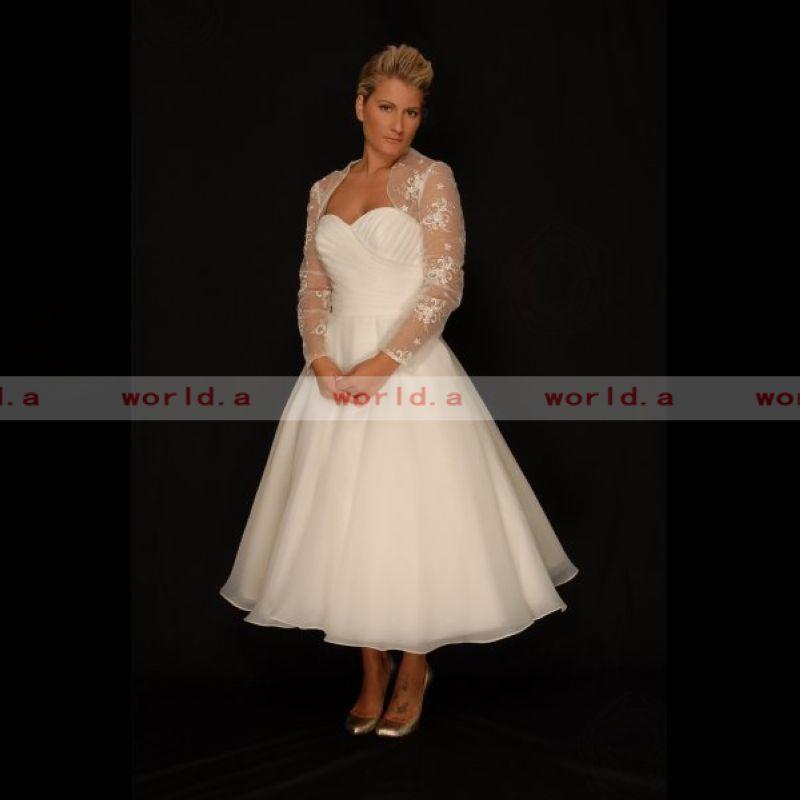 Plus Size Wedding Guest Dresses Tea Length 3