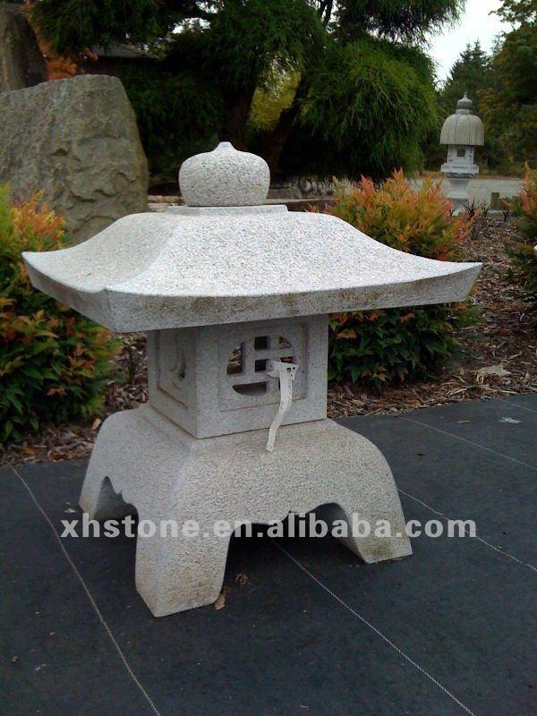 Natural stone hand carved garden lantern sculpture for Japanese landscape lanterns