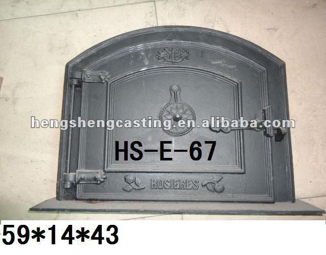 antique vertical cast iron fireplace door stove parts