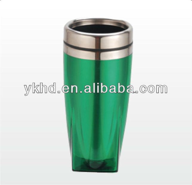 16oz Double Wall Bpa Free Travel Coffee Mug With Handle
