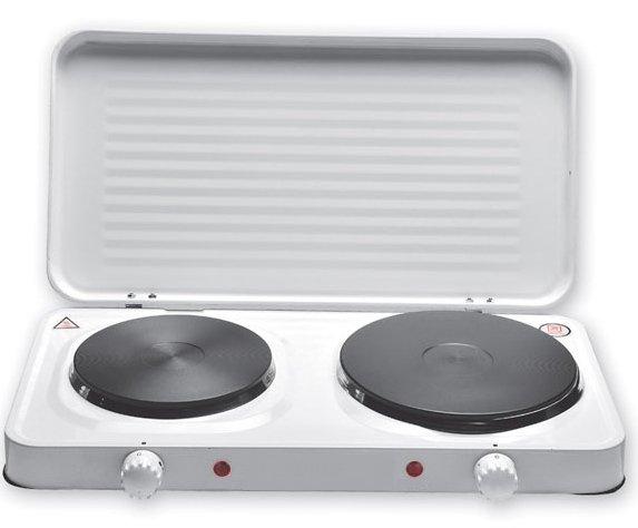 Portable double cuisson lectrique plaque chauffante avec couvercle buy product on - Plaque de cuisson electrique portable ...