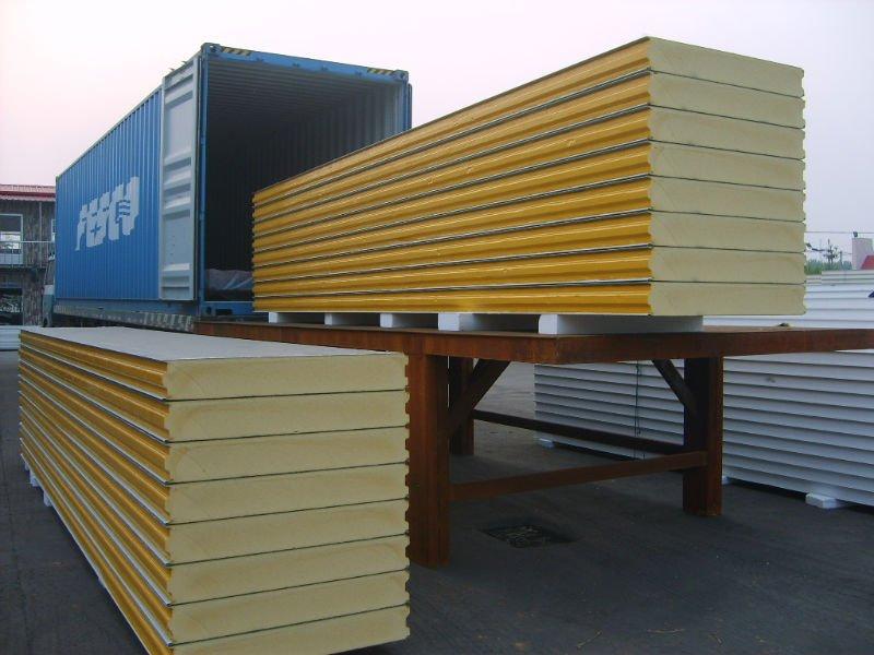 Polyurethane Sandwich Panel : Pu sandwich panels thermal insulation wall