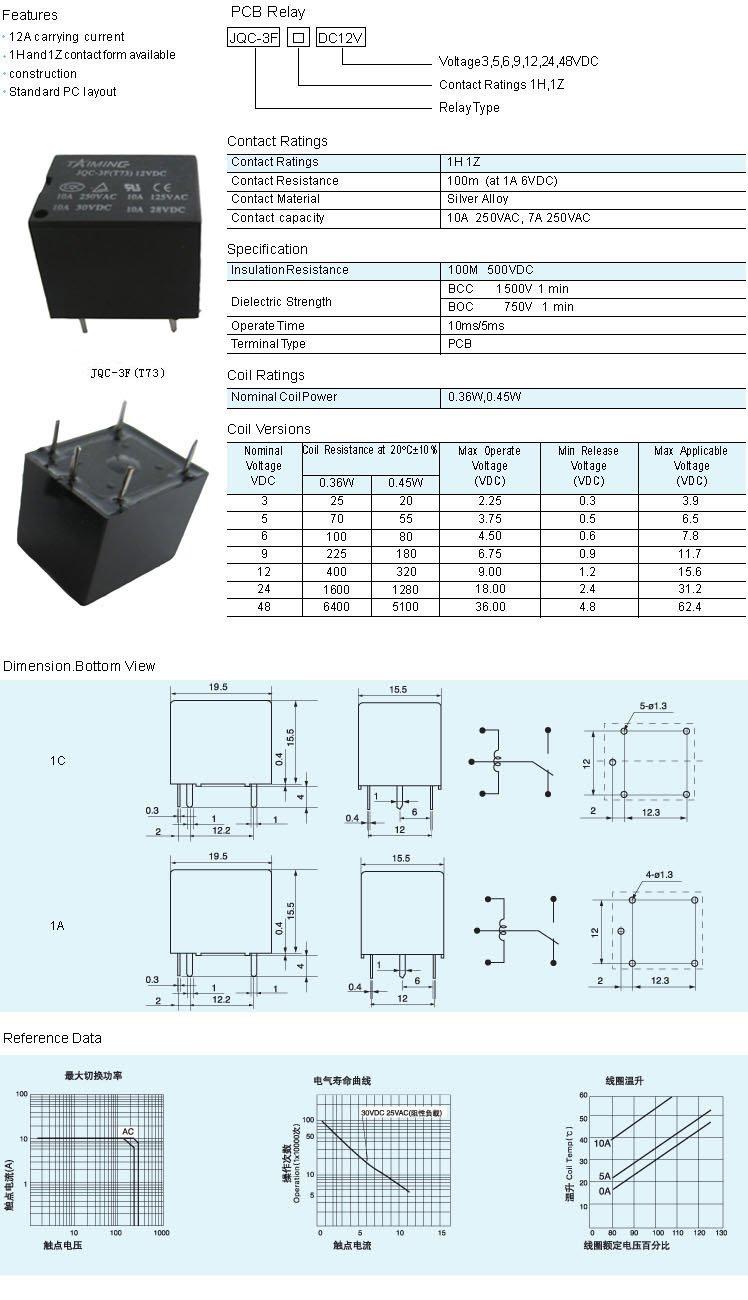 Jqc-3f t73 datasheet