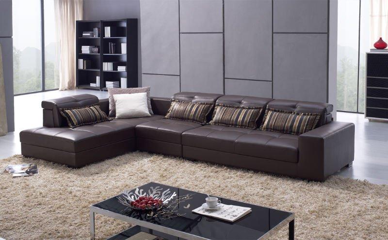 Germany living room leather sofa,luxury top grain genuine leather ...
