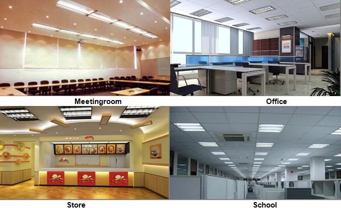 T5 PLL T8 LED Tube LED Module Indirect Office Lighting Indirect Light  Fixture UL CUL TUV