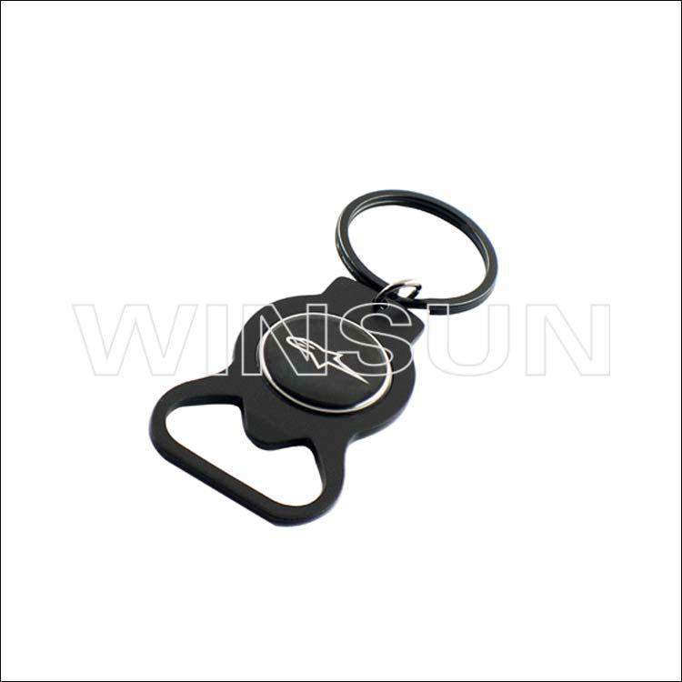 fashion keychain bottle openercustom metal bottle opener keyring with logo buy can opener. Black Bedroom Furniture Sets. Home Design Ideas