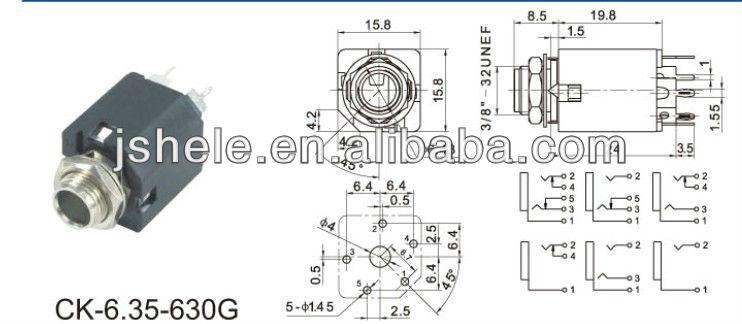 6 35mm 6 5mm mono stereo headphone jack microphone 1 4 panel wiring rh alibaba com wiring a 3.5 mm jack socket wiring a guitar jack socket