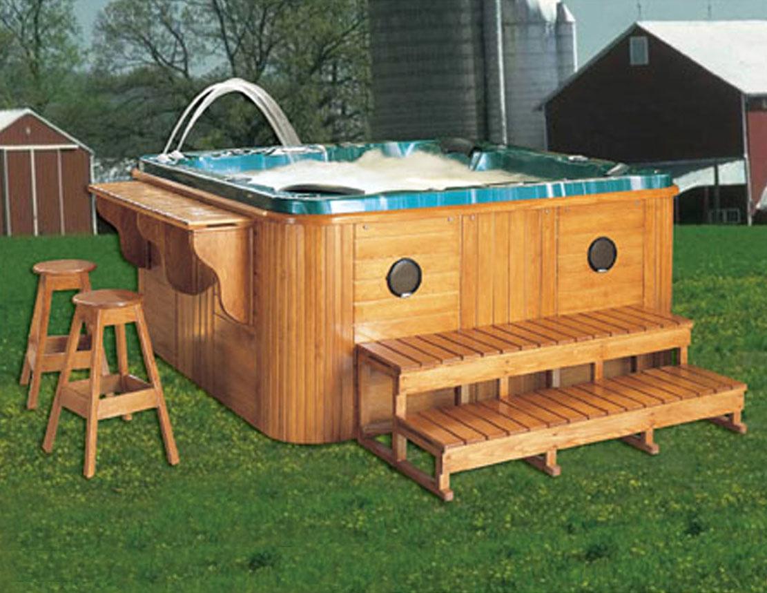 diseo de lujo spa al aire uso domstico madera baera con