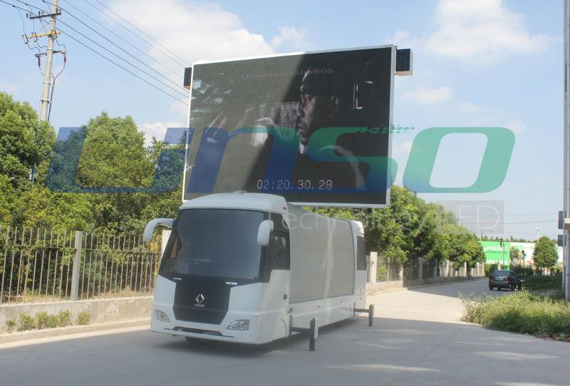Outdoor Mobile Rotating Led Digital Screen Advertising Truck,Led ...