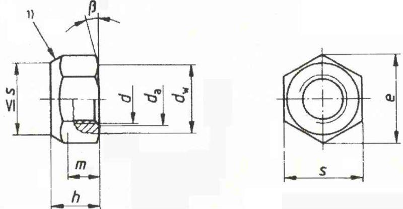 prevailing torque hex lock nut type din980v