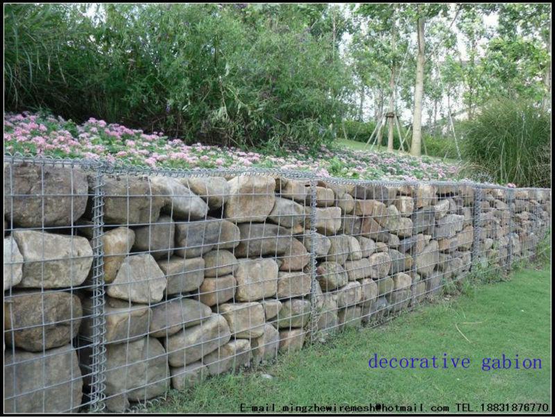Welded Gabion Box Galvanized Stone Cage Gabion Retaining