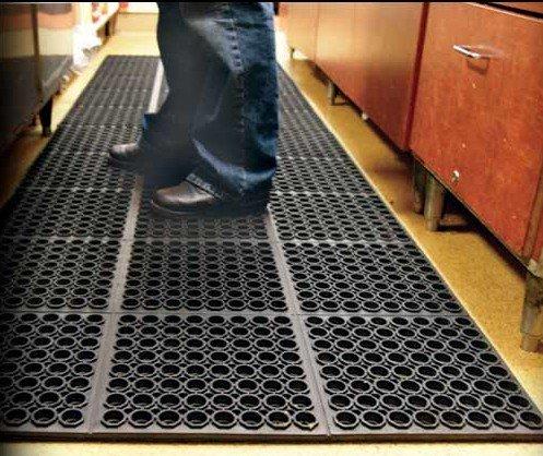 Food Service Rubber Kitchen Mat Anti Fatigue Anti Slip