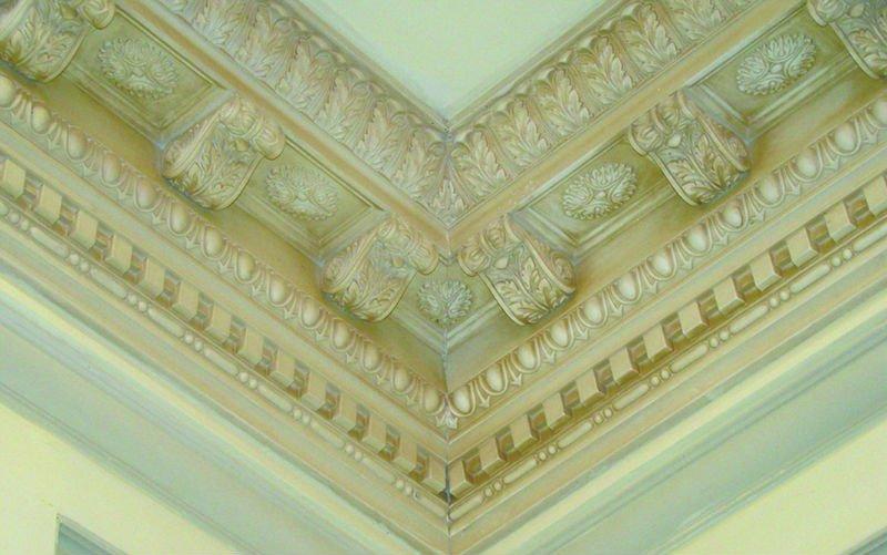 Pu Carved Corner Molding/home/interior Decoration/plastic Moulding ...