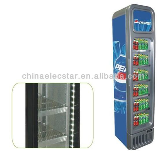125l Retro Slim Glass Door Cooler Pepsi Beverage Cooler