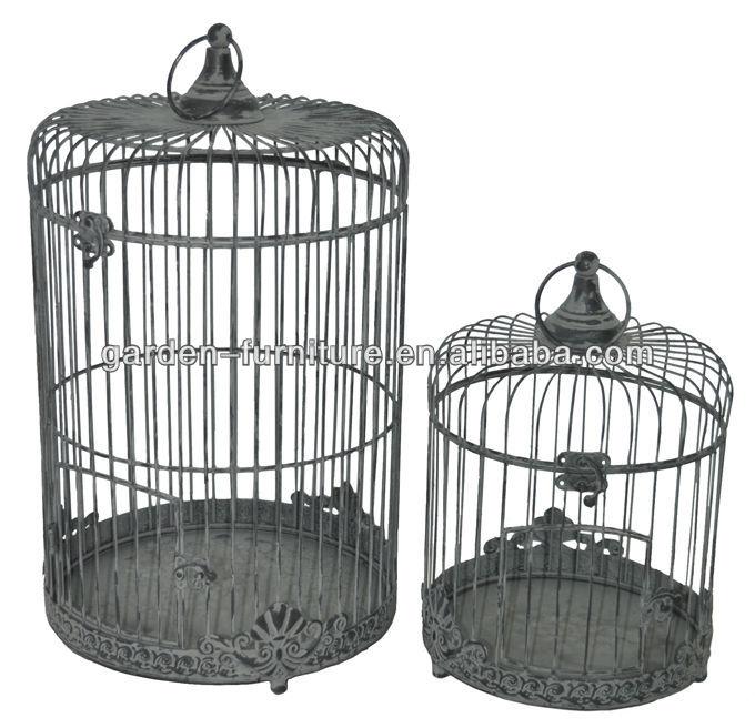 Handmade garden decor round victorian style vintage set of for Cage a oiseau decorative