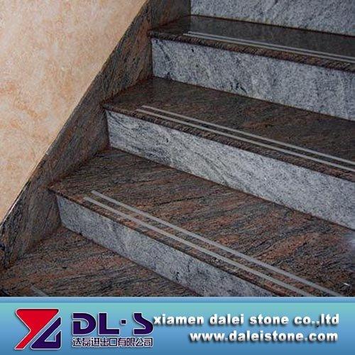 Popular Granite Stairs With Grey Blue Pink Granite Color