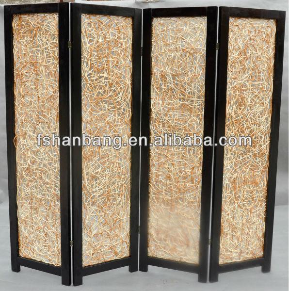 Handgewebte Faltbar Raumteiler 4 Platten