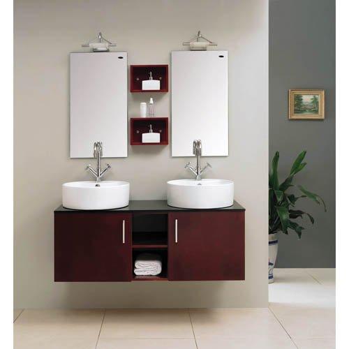 Bathroom Double Vanity Sink Basin Cabinet Set - Buy Bathroom ...