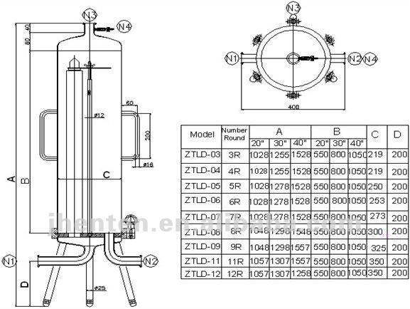Single Amp Multi Round Cartridge Filter Housing Buy
