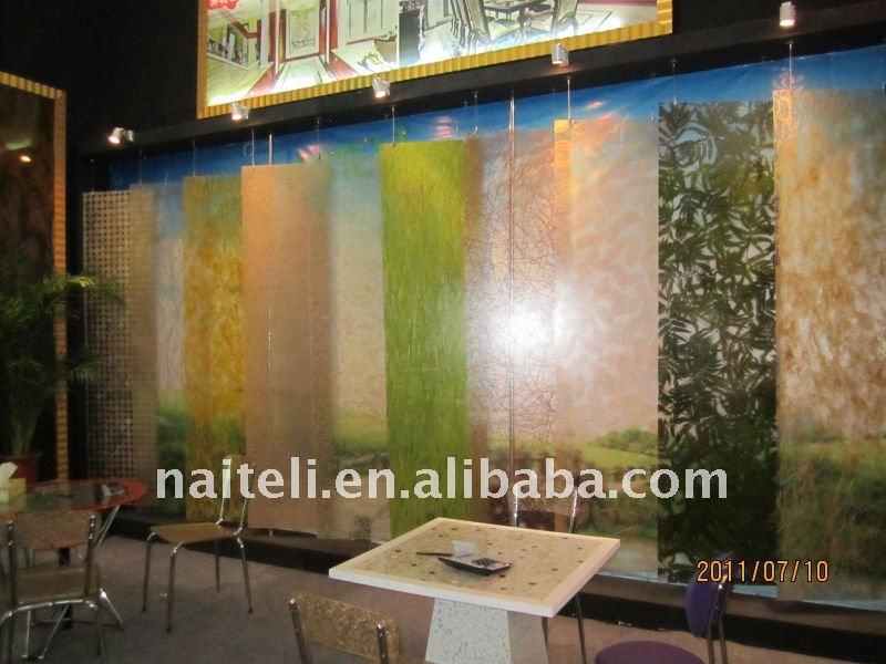 6mm Bamboo Ring Decorative Acrylic Sheet For Shower Sliding Door
